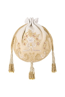 Gold Embroidered Ombre Potli by Lovetobag
