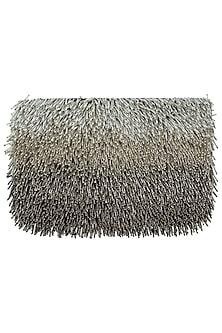 Grey embroidered ombre sling bag by Lovetobag