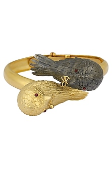 Gold Plated Bird Motif Bangle by Limited Edition