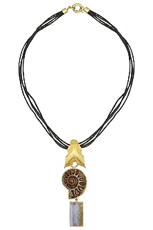 Gold Plated Sea Shell Shape Necklace by Limited Edition