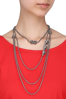 Rhodium Plated Layered Necklace by Limited Edition