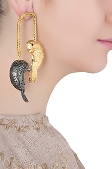 Gold Plated 2 Bird Motif Earrings by Limited Edition