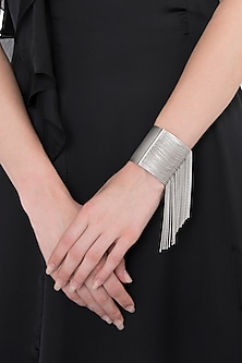 Silver Fringes Hand Cuff by Limited Edition