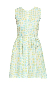Yellow Sky Buttoned Down Dress