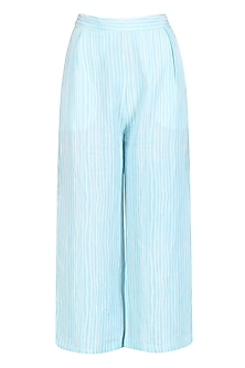 Blue Pinstriped Classic Culouttes by Little Things Studio