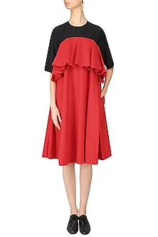 Red Frill Dress by Lovebirds
