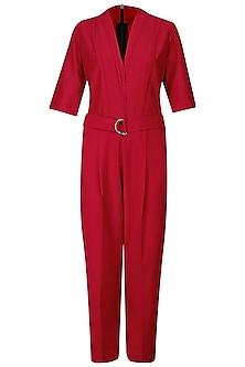 Red Classic Jumpsuit