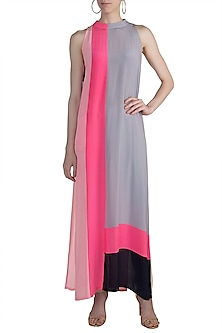 Multi Colored Crepe Tunic by Manish Malhotra