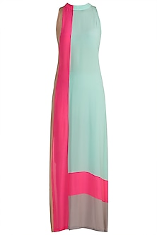 Multi Colored Sleeveless Tunic by Manish Malhotra
