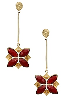 Gold Plated Semi Precious Stone Earrings by Maira