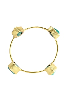 Rough natural textured stones single layer bangle by Maira