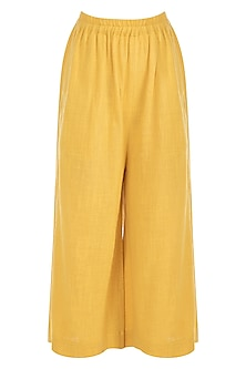 Yellow Khadi Pants by Mati