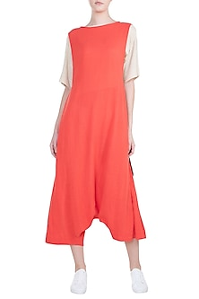Coral Anti Fit Tie-Up Dungarees by Mati