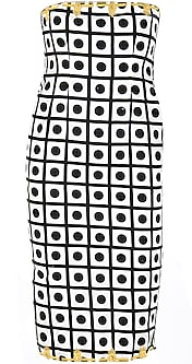 Polka Embroidered Tube Dress