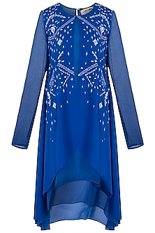 Royal Blue Resham Embroidered Tunic