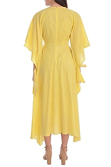 Yellow Cotton Tunic With Slip by Mandira Wirk