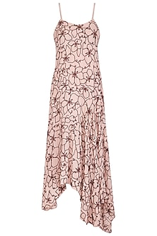 Ivory Embroidered Slip Dress by Meadow