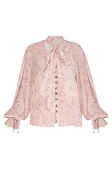 Baby Pink Printed Top by Meadow