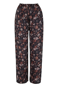 Midnight Blue Printed Lounge Pants by Meadow