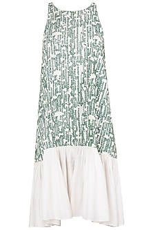 Green and White Canopy Dress by Meadow