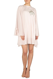 Powder Pink Mini Dress by Meadow