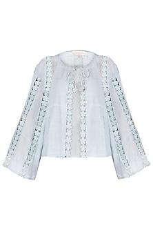 Sky Powder Blue Lace Jacket