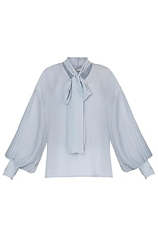 Dainty blue tie-up top