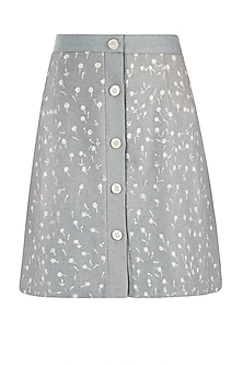 Dusty blue mini skirt