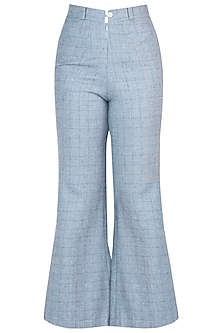 Powder blue tweed pants