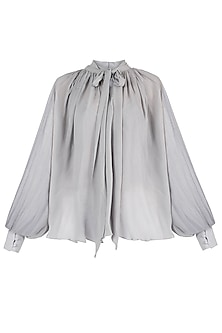 Dusty blue chiffon top