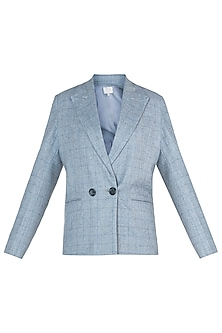 Powder blue tailored jacket