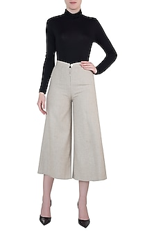 Hazelnut beige culotte pants by Meadow