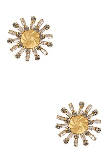 Gold Plated Swarovski Diamonds Earrings by Micare