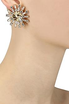 Gold Plated Swarovski Diamonds Earrings
