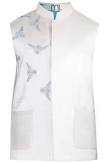 Ivory Embroidered Waistcoat