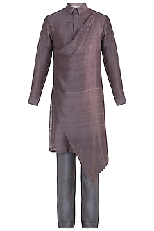Brown layered kurta
