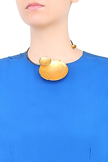 Gold Plated Eclipse Choker Necklace