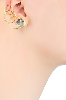 Gold Plated Flux Earrings