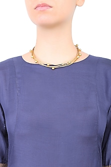 Gold Plated Gravity Choker Necklace