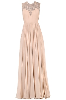 Mauve Embroidered Gown
