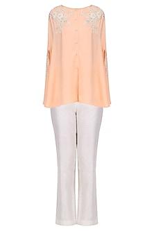 Peach Drape Shirt