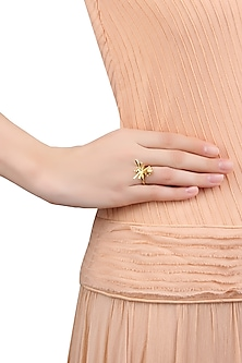 Gold Plated Bird Ring by Mirakin