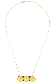 Gold Plated Textured Necklace by Mirakin