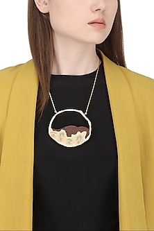 Gold Plated Wave Like Design Necklace