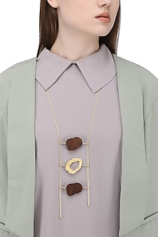 Gold Plated Three Different Coin Shaped Like Necklace
