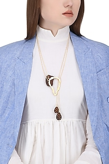 Gold Plated Abstract Design Necklace