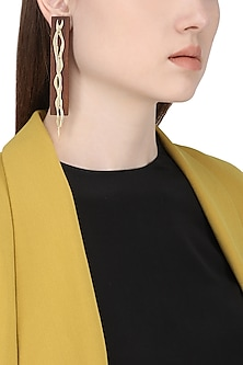 Gold Plated Intertwisted Pattern Earrings
