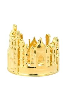 Gold Plated Taj Mahal Landscape Ring by Mirakin