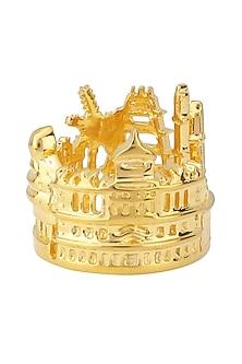 Gold Plated Chennai Landscape Ring by Mirakin