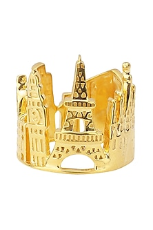 Gold Plated Europe Landscape Ring by Mirakin